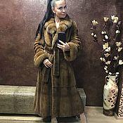 Одежда ручной работы. Ярмарка Мастеров - ручная работа Шуба норковая Королевская с соболем. Handmade.