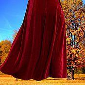 """Одежда ручной работы. Ярмарка Мастеров - ручная работа Бархатная красная юбка """"Королева"""". Handmade."""