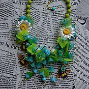 Украшения handmade. Livemaster - original item Blue bells necklace