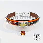 Украшения handmade. Livemaster - original item Designer leather bracelet ...for Her Art:18000183. Handmade.