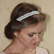 Украшения handmade. Livemaster - original item Headband for Greek hairstyles hair ornament tatting e. Handmade.