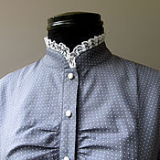 Одежда handmade. Livemaster - original item Blouse with lace. Handmade.
