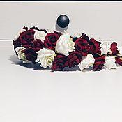 Украшения ручной работы. Ярмарка Мастеров - ручная работа Ободок с розами Бархат. Handmade.