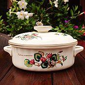 Винтаж handmade. Livemaster - original item Villeroy&Boch.  Botanica.  Roaster with lid.. Handmade.