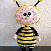 Мягкие игрушки ручной работы. Ярмарка Мастеров - ручная работа Бонни в костюме пчелки. Handmade.