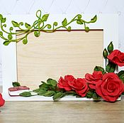 """Подарки к праздникам ручной работы. Ярмарка Мастеров - ручная работа Фоторамка Розы """"Мина"""". Handmade."""