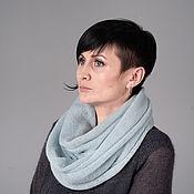 Аксессуары handmade. Livemaster - original item Snudy: Snood knitted in two turns from kid-mohair. Handmade.