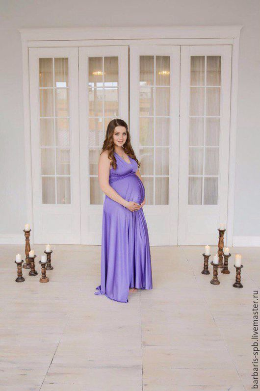 Платье для будущей мамы. Фото нашей клиентки