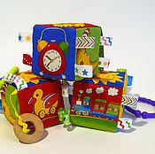 Куклы и игрушки ручной работы. Ярмарка Мастеров - ручная работа Погремушка кубик. Handmade.