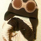 """Работы для детей, ручной работы. Ярмарка Мастеров - ручная работа Комплект детский вязаный """"Пилот"""". Handmade."""