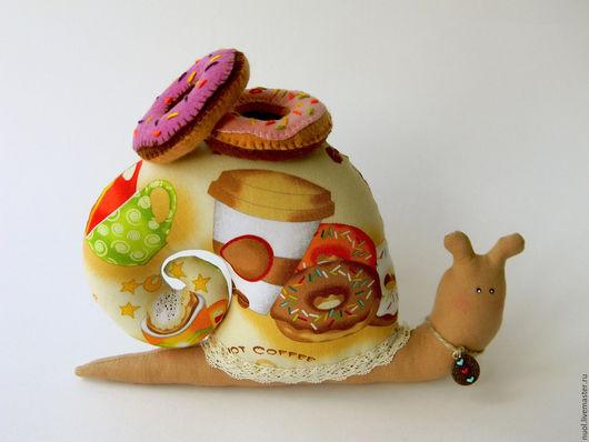 Куклы Тильды ручной работы. Ярмарка Мастеров - ручная работа. Купить Кофейная улиточка. Handmade. Комбинированный, кофеману, декоративные элементы