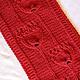 Order Knitted set Tulips, knitted scarf - snud and bandage. (Milena-Pobedova) (Milena-Pobedova). Livemaster. . Headwear Sets Фото №3