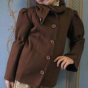 """Работы для детей, ручной работы. Ярмарка Мастеров - ручная работа Пиджак для девочки """"Шоколад"""". Handmade."""