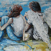 Картины и панно ручной работы. Ярмарка Мастеров - ручная работа Always by your side. Handmade.