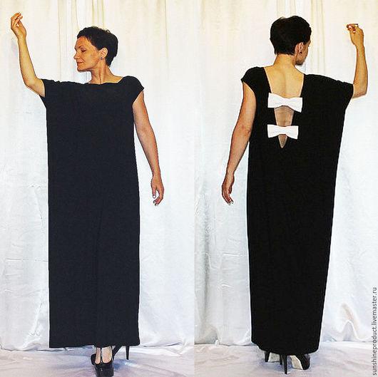 """Платья ручной работы. Ярмарка Мастеров - ручная работа. Купить Платье вечернее """"Ноктюрн"""". Handmade. Чёрно-белый, макси платье"""