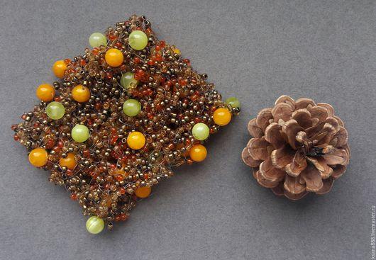 Браслеты ручной работы. Ярмарка Мастеров - ручная работа. Купить Осенние ягоды. Handmade. Оранжевый, ягоды и листья, браслет из бисера