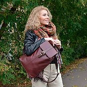 Сумки и аксессуары handmade. Livemaster - original item Backpack female Burgundy leather Michelle Mod P10-182. Handmade.