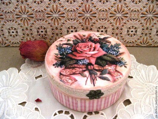 Шкатулки ручной работы. Ярмарка Мастеров - ручная работа. Купить Шкатулка  Букет с розой. Handmade. Шкатулка, роза, романтичный стиль