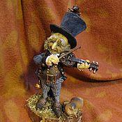 Куклы и игрушки ручной работы. Ярмарка Мастеров - ручная работа коллекционная кукла Монжик-скрипач. Handmade.