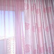 Для дома и интерьера ручной работы. Ярмарка Мастеров - ручная работа Комплект шторы и вуаль для детской. Handmade.