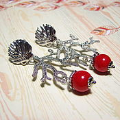 Украшения handmade. Livemaster - original item Coral earrings