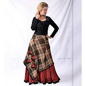 Одежда ручной работы. Ярмарка Мастеров - ручная работа Длинная юбка теплая для зимы. Handmade.