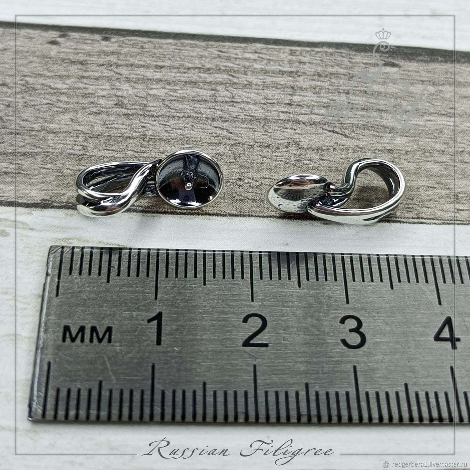 Pendant with caste in a cup (10 mm), silver 12 microns, Russia, Pendants, Kostroma,  Фото №1