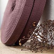 """Материалы для творчества ручной работы. Ярмарка Мастеров - ручная работа Хлопковая стропа  """"елочка"""" 25, 30 мм, красно-коричневая. Handmade."""