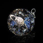 Украшения handmade. Livemaster - original item Pendant ball Silver Saturn. Cosmos Universe Galaxy planet Jewelry. Handmade.