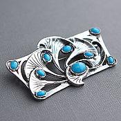 Украшения handmade. Livemaster - original item Silver brooch-pendant with turquoise. Handmade.