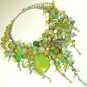 handmade. Livemaster - original item The path along the Edge of the Spring. Necklace made of natural stones. Handmade.