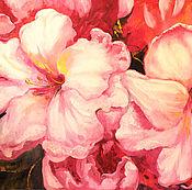 Картины и панно handmade. Livemaster - original item Oil painting big Pink glow. Handmade.