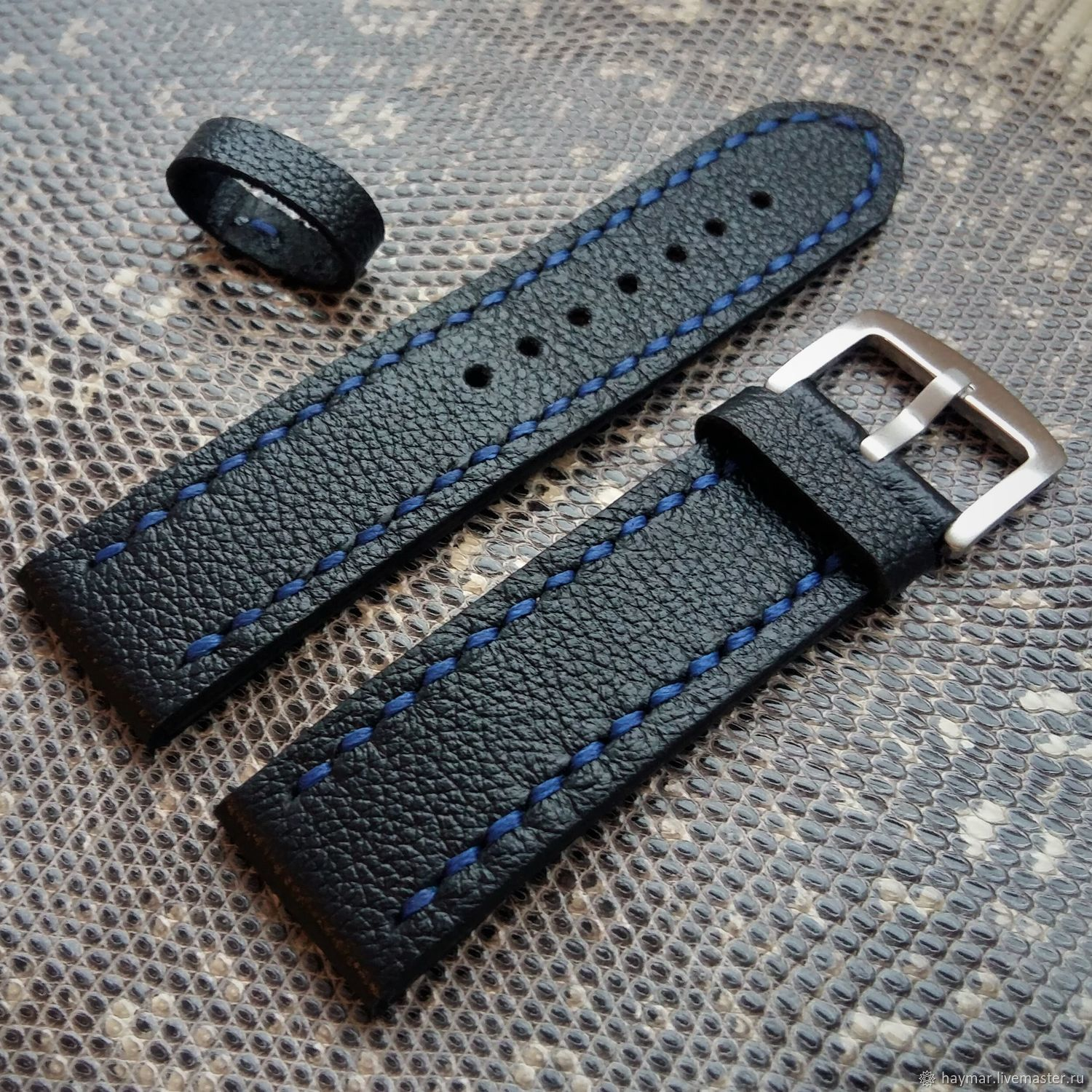 Leather strap 22mm 20mm, Accessories for jewelry, Moscow,  Фото №1