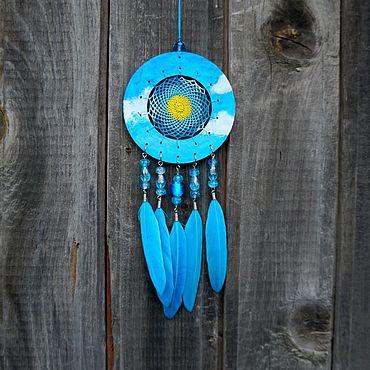 Feng Shui handmade. Livemaster - original item Blue Dreamcatcher Small dream catcher. Handmade.
