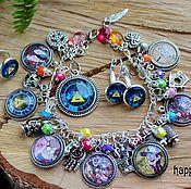 Украшения handmade. Livemaster - original item Gravity Falls set jewelry Mystery Shack Mabel Dipper Pines Bill. Handmade.