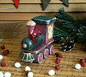 Для дома и интерьера ручной работы. Ярмарка Мастеров - ручная работа Паровозик деда Мороза.... Handmade.