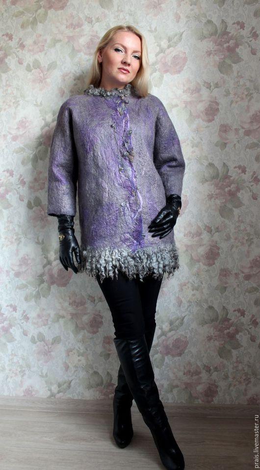 """Верхняя одежда ручной работы. Ярмарка Мастеров - ручная работа. Купить Авторская валяная куртка """"silver moon"""". Handmade. Комбинированный"""
