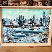 Картины и панно handmade. Livemaster - original item Painting on birch bark