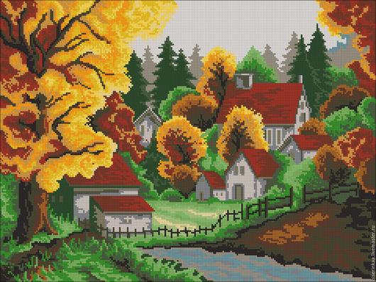 Схема для вышивки бисером `Сочная осень`