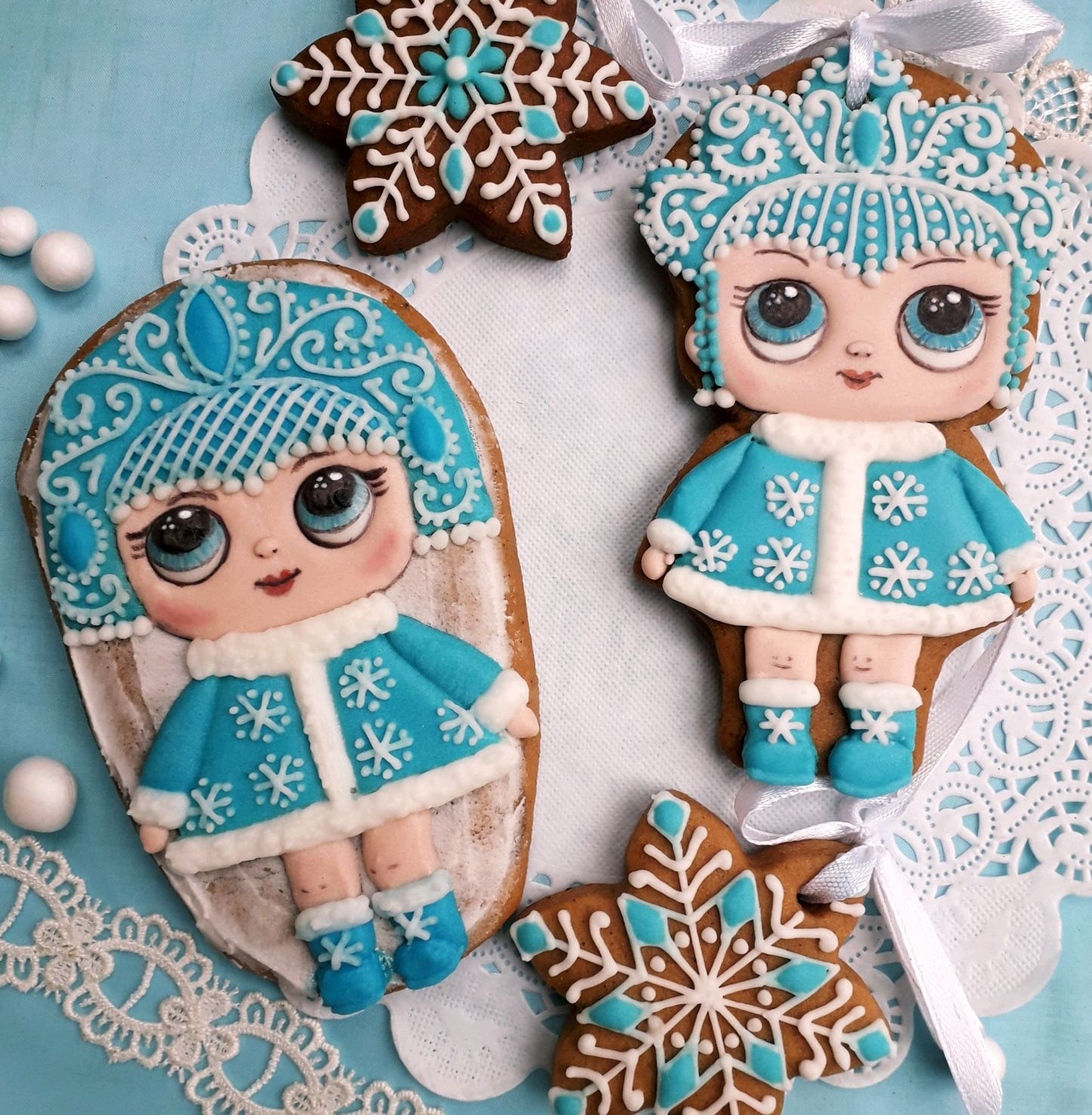 Gingerbread snow maiden . The carrot for the New Year. Gingerbread for girls, Gingerbread Cookies Set, Rostov-on-Don,  Фото №1