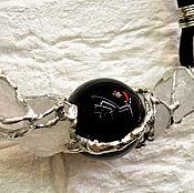 """Украшения ручной работы. Ярмарка Мастеров - ручная работа Колье """"Чёрный шар"""". Handmade."""