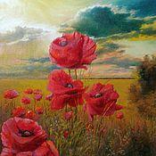 Картины и панно handmade. Livemaster - original item Oil painting passage flowers. Handmade.