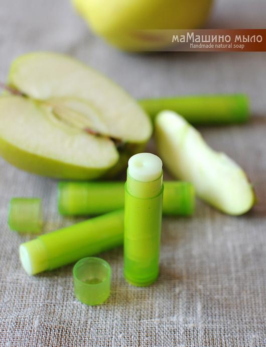 Бальзам для губ ручной работы. Ярмарка Мастеров - ручная работа. Купить Бальзам для губ Зеленое яблоко. Handmade. Зеленый