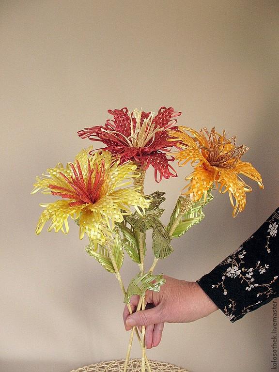 Фото цветов с соломкой