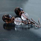 Украшения handmade. Livemaster - original item Earrings with quartz