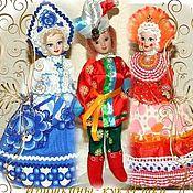 Dolls handmade. Livemaster - original item Russian doll Gzhel, Dymkovo Parsley and lady. Handmade.