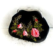 Сумки и аксессуары handmade. Livemaster - original item Bag handmade black with roses. Handmade.