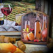 Для дома и интерьера ручной работы. Ярмарка Мастеров - ручная работа Сырная досочка прямоугольная. Разделочная доска для сыра. Handmade.
