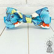 Аксессуары ручной работы. Ярмарка Мастеров - ручная работа Бабочка галстук Бирюзовый пион / бабочка-галстук цветочная бирюзовая. Handmade.