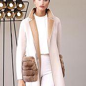 Одежда ручной работы. Ярмарка Мастеров - ручная работа Пальто из двухстороннего кашемира max mara. Handmade.